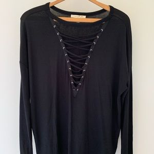 Express Black edgy long sleeve, size m